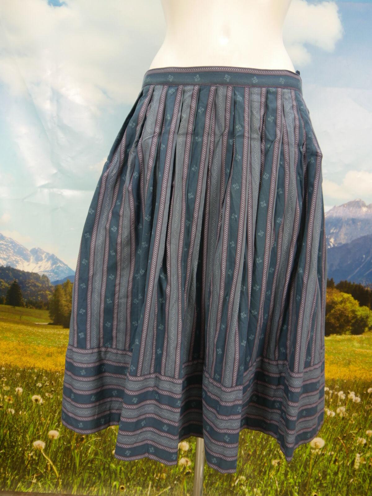 Trachtenrock grün Baumwolle mit faszinierend tollem Muster Trachten Rock Gr.44