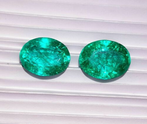 Details about  /Natural Emerald Loose Gemstone 8.00 to 10.00 Ct Pair Certified S169
