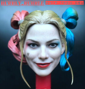 1//6 Harley Quinn Head Sculpt Suicide Squad For PHICEN Hot Toys Female Figure USA