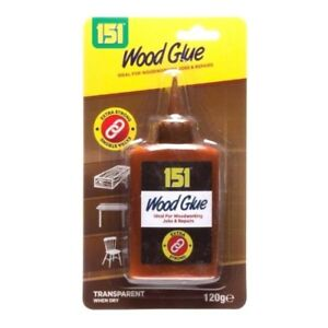 Wood Glue 151 Clear Pva Super Strong Adhesive Quick Bond