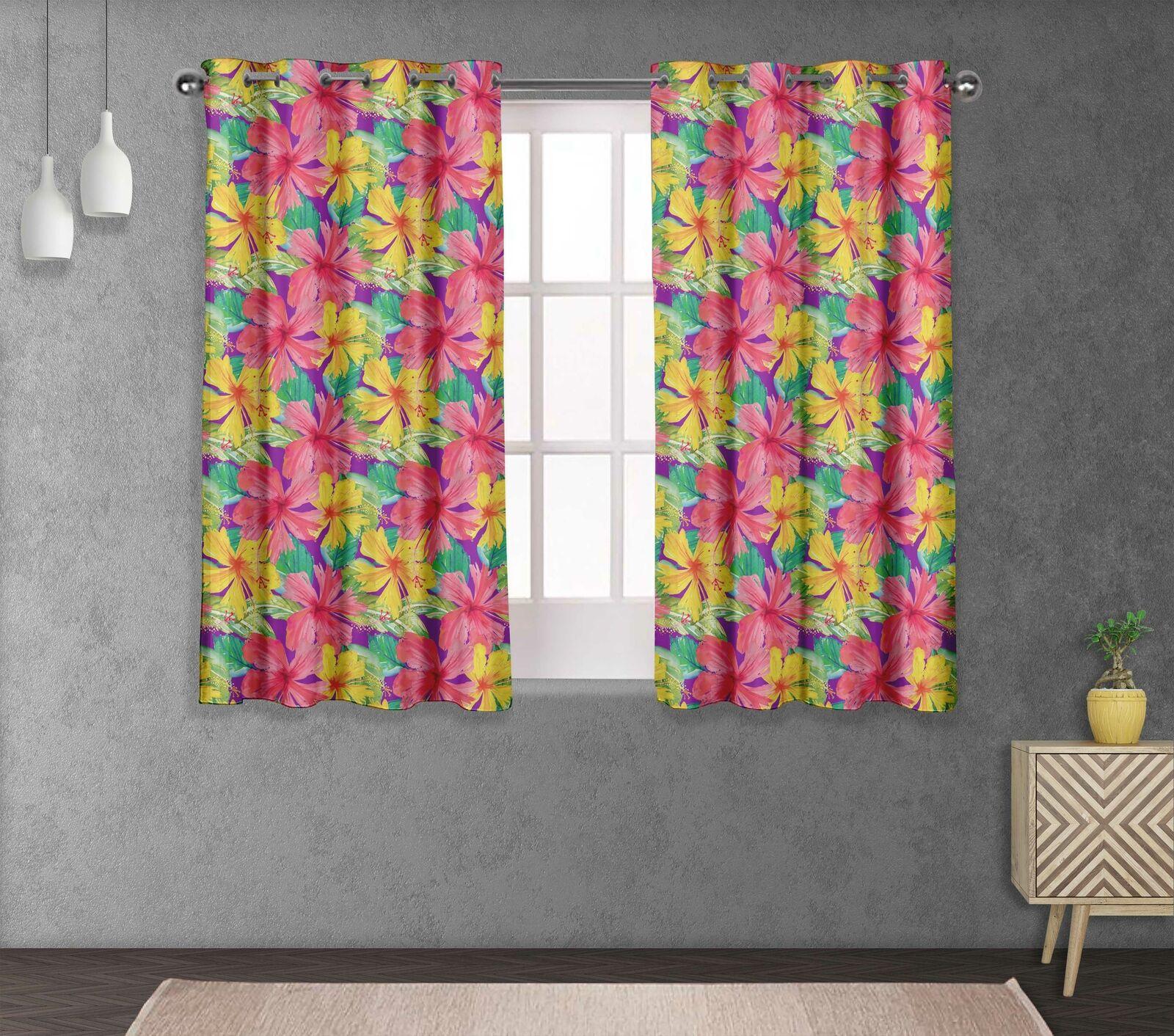 S 4 Sassy Hojas & Salón Ojal cortina de ventana de corto y larga-FL-683C