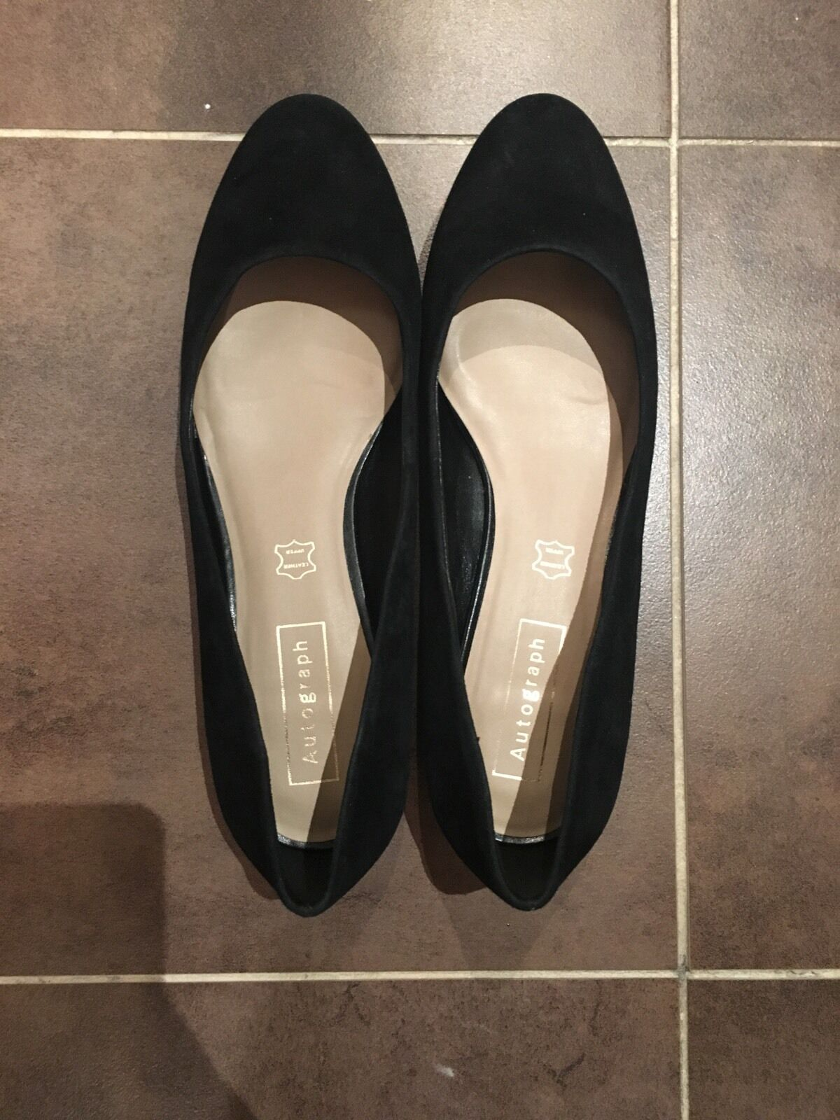 Marks And Spencer Autograph Low Heeled shoes Black Suede Size 5