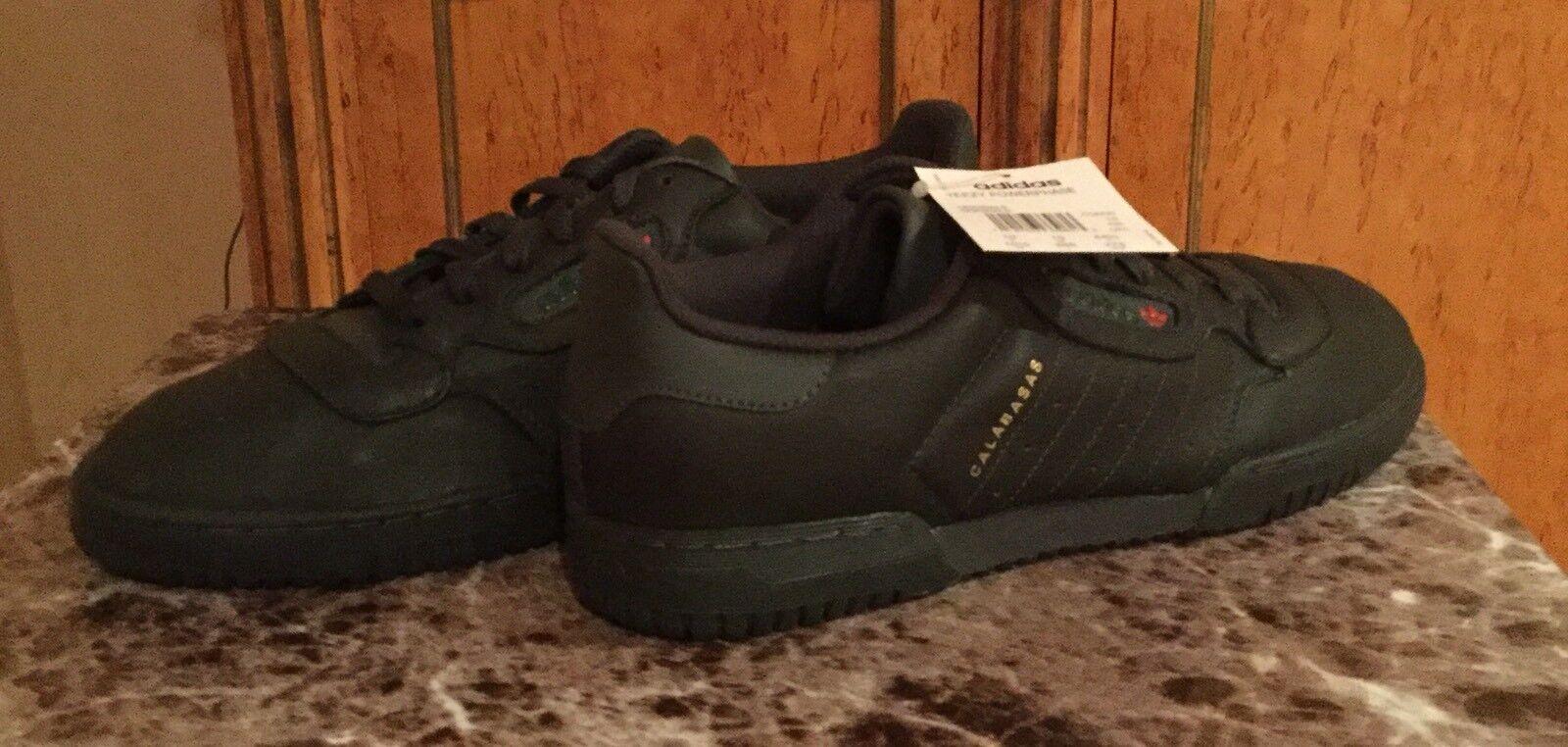 Mens Adidas Yeezy Powerphase Calabasas Sneakers, Black, Size 10.5