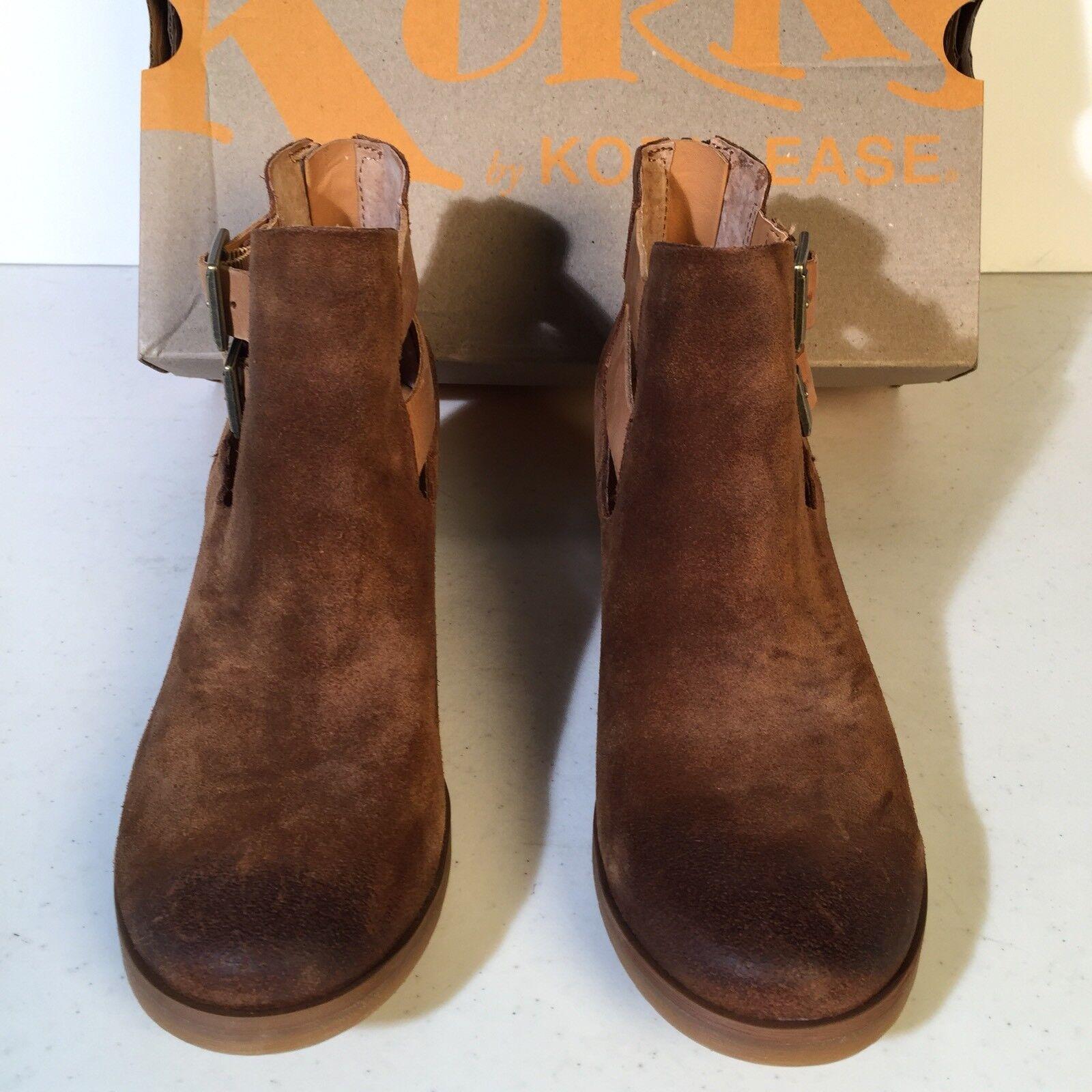 New KORKS 130 Tan GABBRIELA Open Strap Bootie 6.5 M M 6.5 KORK EASE Ankle Boot NIB 75e3b9