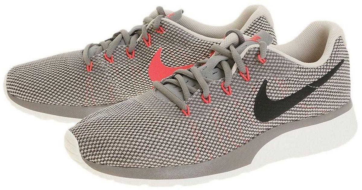 NEW MENS Nike TANJUN RACER sz 9.5 Gray DUST Black Running Shoes Sneakers