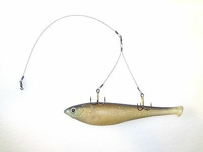 3 ICE FISHING WEIGHTED QUICK STRIKE SMELT TIP UP RIGS Beaver Dam Frabill HT