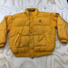 Vintage 90s KODAK COLOR FILM Enjoy Life Enjoy Photo Embroidered Logo Yellow Puffer Windbreaker Jacket Medium Size Fuji Film Sony Accesssorie