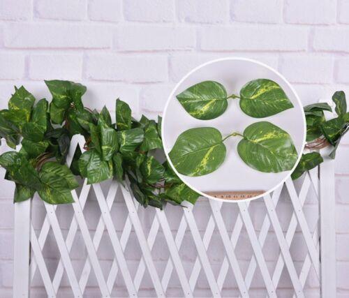 Artificial Ivy Leaf Garland Plants Vine Fake Flowers Home Wedding Décor 7.2ft