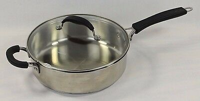 """Cuisinart 8633-24H 3.5QT Saute Pan 2 Handles with Cover Stainless Steel 10"""""""
