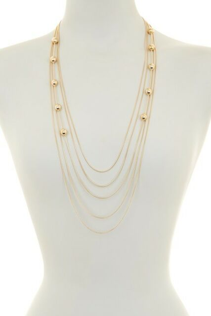 4e00f9546 Nordstrom Rack 14th & Union Ball Station Necklace Double Hoop Earring NWT  set 2