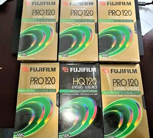 7 Fuji VHS tapes NEW FACTORY SEALED: 6 PRO, 1 HQ