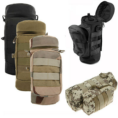 Molle Militray Tactical Zipper Water Bottle Hydration Bag Pouch Outdoor Survival