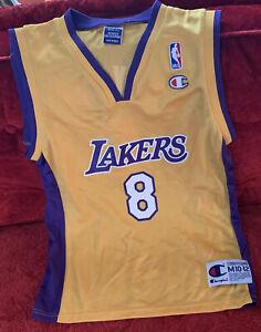 Boys Youth NBA Los Angeles Lakers Kobe Bryant #8 Champion Jersey ...