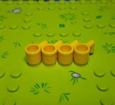 Utensil Cup 3899 YELLOW LEGO Parts~ 4 Minifig