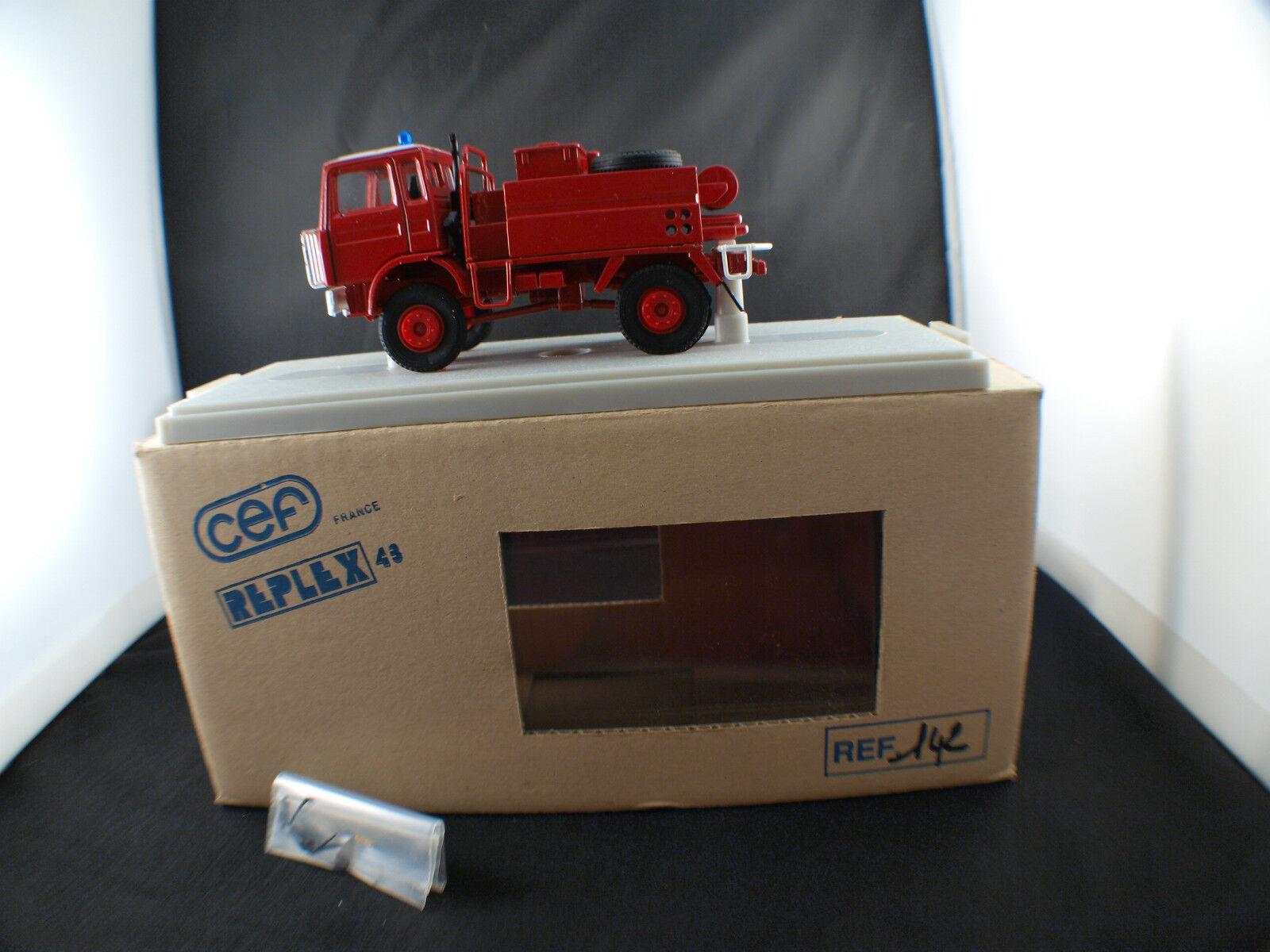 sconto di vendita CEF Replex 43 43 43 n° 142 Camion Renault Camiva Pompiers Feux de forêts neuf boite  stanno facendo attività di sconto