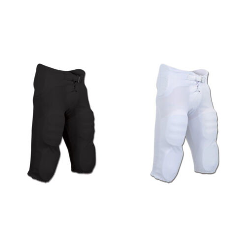 Champro Football Pants w// Built-in Pads Black White Adult Youth Support