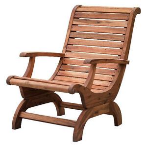 Delicieux Image Is Loading Teak Oiled Plantation Adirondack Outdoor Patio Deck Chair