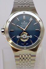 Reloj Pulsera totalmente NUEVO Azul Edox Delfín campeón de agua 85024 3M Automático Buin