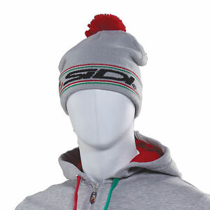 Sidi-Casuals-Bobble-Hat-Montagna-Grey-Red-ADULTS-MENS-WOMENS