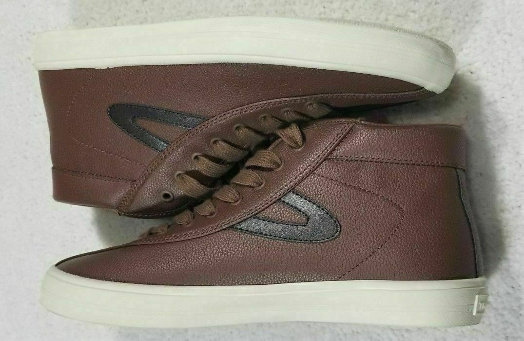 NEW Tretorn Brown Veagan Leather High Tops Men's Size 9.5