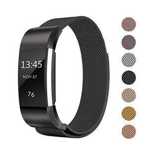 For Fitbit Charge 2 Replacement Milanese Mesh Magnetic Metal Wrist Band Strap