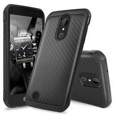 For LG K20 Plus/K20 V/Harmony Slim Carbon Fiber Shockproof TPU Armor Case Cover