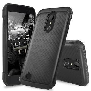For-LG-K20-Plus-K20-V-Harmony-Slim-Carbon-Fiber-Shockproof-TPU-Armor-Case-Cover