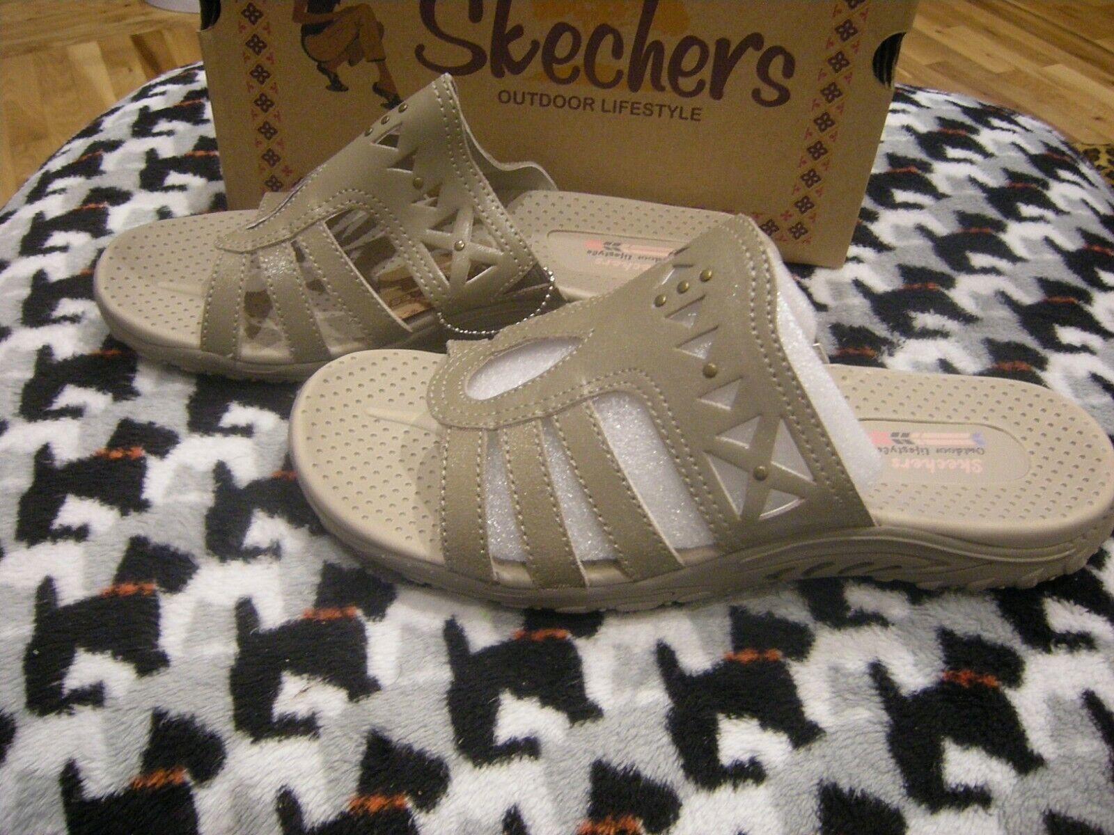 Brand New Womens Taupe Brown Skechers Azalea Sandals, Size 7