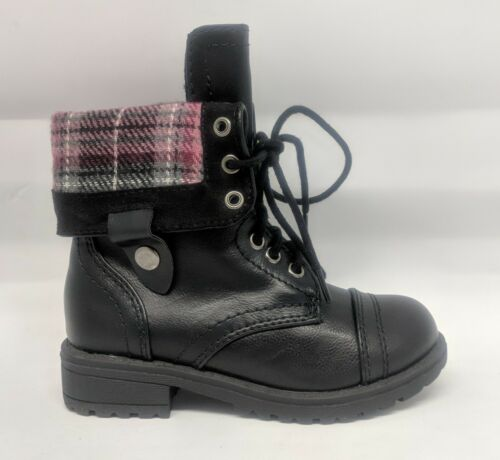 Girls Youth Kids Military Lace-Up Fold Over Cuff Combat Boots #Oralee-2s