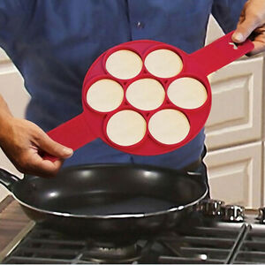 Pancake-Flippin-039-Moule-en-silicone-Gateau-antiadhesif-de-gaufre-de-cuisson-pou
