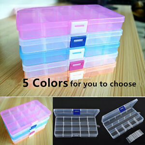 15 Slots Compartment Plastic Box Jewelry Bead Storage Container