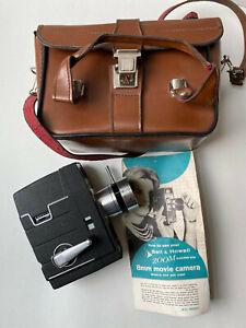 VTG BELL & HOWELL 8mm ELECTRIC EYE ZOOM MOVIE CAMERA MODEL 310F/312DF w/ CASE!
