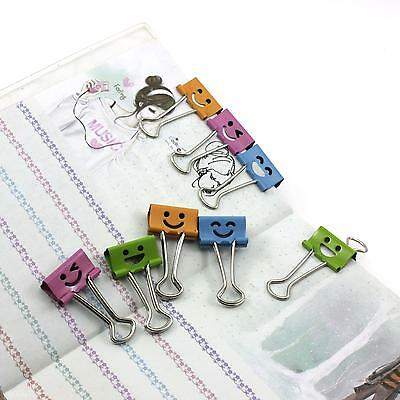 10pcs School Office Home Metal File Ticket Paper Binder Clips Document Holder