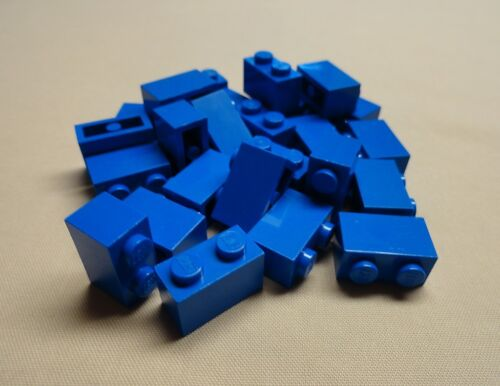 25 Lego Blue Bricks 1 x 2 1x2 Brick Lot