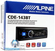 ALPINE CDE-143BT CD USB MP3 WMA AUX IPOD IPHONE EQUALIZER EQ BLUETOOTH RADIO NEW