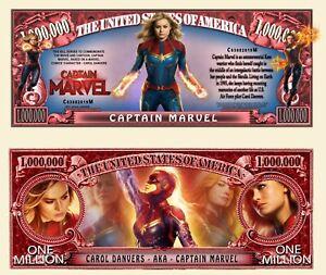 CAPTAIN MARVEL BILLET MILLION DOLLAR US ! Carol Danvers Avengers Super Heros 2