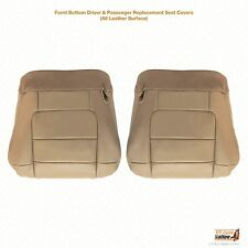 2001 02 2003 Ford F150 Lariat Super Crew Driver &Passenger Bottom Seat Cover Tan