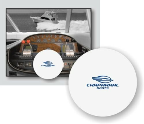 WHITE 100/% Microfiber CHAPARRAL BOATS Stretchable Boat Steering Wheel Cover