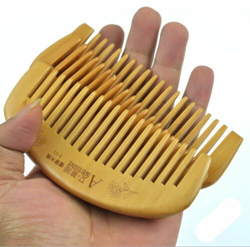 Natural Sandalwood Wood Hair Comb Head Massage Health Care Wide Tooth Comb New