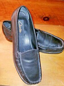 Clarks Designer Womens Black Leather