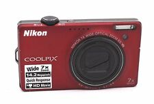 Nikon COOLPIX S6000 14.2 MP Digital Camera - Red - NO ACCESSORIES