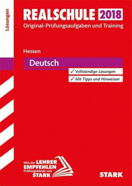 Abschlussprüfung Realschule Hessen - Deutsch Lösungsheft [Taschenbuch]