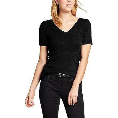 Basic V Neck T Shirts Solid Color Plain Tee Top Stretch Layer Fitted Womens