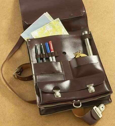 A Tracolla Messenger Militare Vintage Borsa Custodia in Pelle Esercito Scuola Retrò Borsa A Tracolla