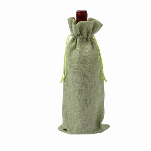 Wine Bottle Bag Gift Bags Champagne Wine Bottle Cover Jute Burlap Packing Bags