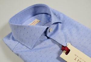Camicia-Celeste-Slim-Fit-Pancaldi-collo-Francese-cotone-stampato-con-disegno