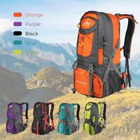 50L Waterproof Outdoor Hiking Bag Camping Travel Mountaineering Backpack us F0L5