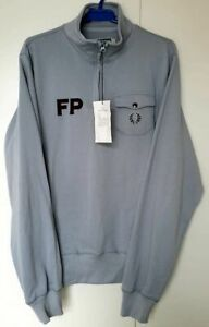 MENS-FRED-PERRY-JUMPER-FRED-PERRY-COLLAR-NECK-LILAC-COLOUR-UK-LARGE