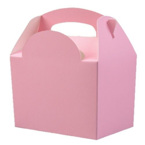 60 x Childrens Kids Plain Coloured Food Boxes ~ Birthday Meal Party Box