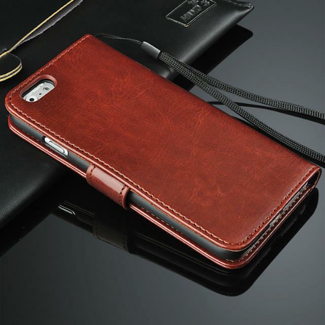 Luxury Genuine Real Leather Flip Cover Stand Wallet Case For Apple iPhone Models